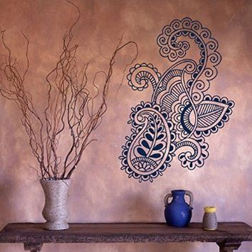Wall Decal Vinyl Sticker Art Mehndi Henna Indian Pattern Beauty Folklore V376