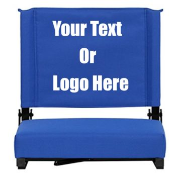 "Custom Personalized Durable Stadium Chair with 3"" Thick Comfortable Cushion"