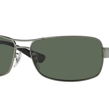 Ray-Ban RB3379 004/58 64mm Gunmetal Frame/Green Lens Polarized Sunglasses