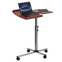 Angle and Height Adjustable Mobile Laptop Computer Table with Top
