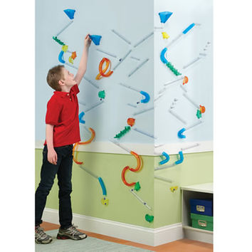 The Wall Mounted Marble Roller Coaster From Hammacher