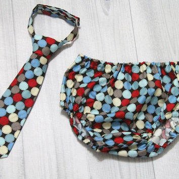 Baby Boy Tie and Diaper Cover Set. Various Fabric choices/sizes Birthday Cake Smash Set. Church, Wedding Tie