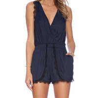 NBD Sugar Romper in Navy