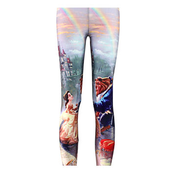 Beauty and the Beast Leggings S-4XL