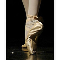RCGrafix Direct-To-Case Printed Ballet Shoes Dancer Theme (Not A Sticker) iPhone 5C Quality Hard Snap On Case for iPhone 5C - AT&T Sprint Verizon - White Case