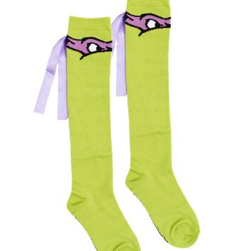 Teenage Mutant Ninja Turtles Donatello Knee High Socks