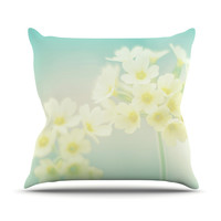 "Monika Strigel ""Happy Spring"" Yellow Teal Throw Pillow"