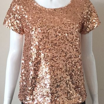 rose gold sequin top | michellabella.com