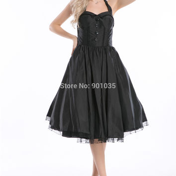 Soul Dress Black Corset Punk Ladies Goth Gothic  Rockabilly dress