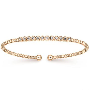 Gabriel Flexible Diamond Bezel Bangle