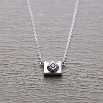 New necklace fashion camera necklace chain chain silver jewelry