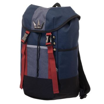 MPBP Kingdom Hearts Backpack  Navy Blue, Red, and Grey Gamer Backpack