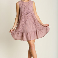 Sweet Spring Dress in Blush