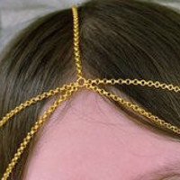 Bohemian Gold Chain Headdress with Double by allthingswildandfree