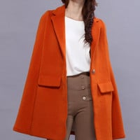 Top Woolen Orange Cape