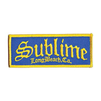 Sublime Men's Long Beach Logo Embroidered Patch Blue