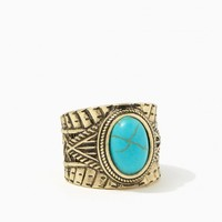 Oval Turquoise Rope Ring | Charming Charlie
