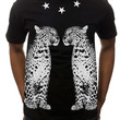The 2 Leopards Tee in Black