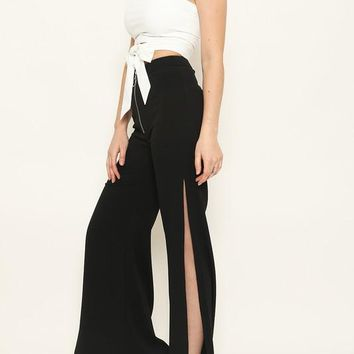 Tie Front Two Piece Pants Set