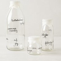 Glass Dairy Bottle