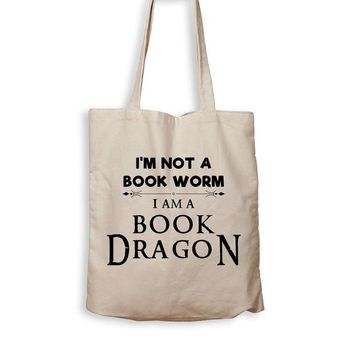 DCCK I Am A Book Dragon - Tote Bag
