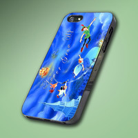 Beautiful Blue Disney Peter Pan Quote - Hard Case Made From Plastic or Rubber - For iPhone 4/4s, 5, 5c, 5s, iPod 4, 5, Samsung S3, S4