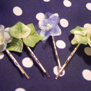 Fairy Ivy's Hair Pins in Baby Blue by ZoeAmaris on Etsy