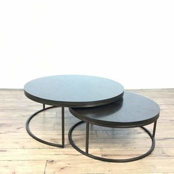 Pair of Mitchell Gold+ Bob Williams Bassey Nesting Cocktail Tables