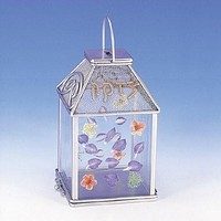 Tzedakah Glass Pressed Flowers Metal Wild Flowers