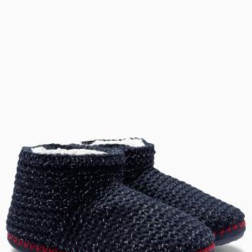 Buy Navy Knitted Boot Slippers from the Next UK online shop