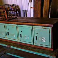 Vintage Locker Storage Cabinet
