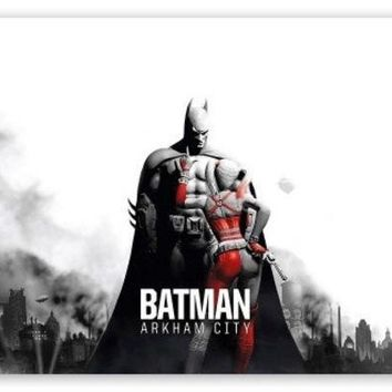 PEAPIX3 Batman Arkham City - Batman & Harley HD Art 24X36 Inch  Silk Poster Print = 1927898372