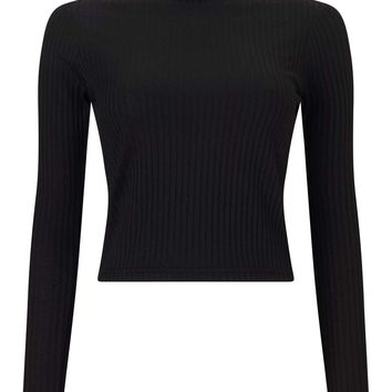 Black Turtle Neck Crop Top | Missselfridge