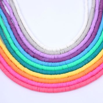 1 string 6mm Rubber spacer DIY Jewelry Findings Fimo Slices Polymer Clay Beads for boho jewelry earring Design Bracelet material