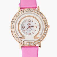 Rhinestone Beaded Wrist Watch