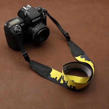 Cartoon Series DSLR Strap  Handmade Leather Camera Strap 8722