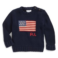 Infant Boy's Ralph Lauren Combed Cotton Knit Sweater,