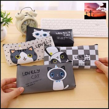 Newest High Quality PU Leather Pencil Cases