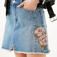 Fashion Floral Embroidery Skirt