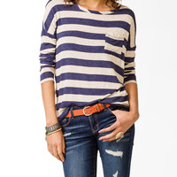 Striped Pocket Top