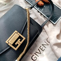 Givenchy 2019 new female personality personality wild chain bag shoulder bag Black