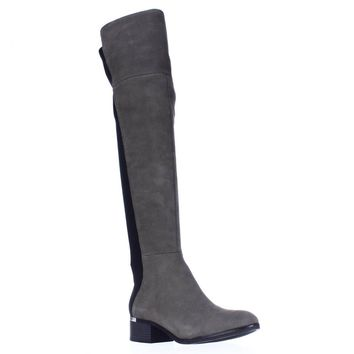 B35 Rene Over The Knee Boots, Grey, 7.5 US