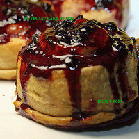 Vegan Fantastic wild blueberry buns with delicious blueberry sauce, love,natural and healthy ingredients,birthday,wedding.