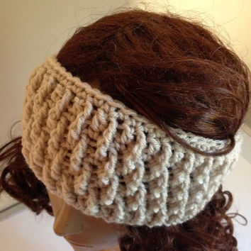 Crochet ear warmer, headband, winter headwear