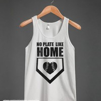 No Plate Like Home (Tank)-Unisex White Tank