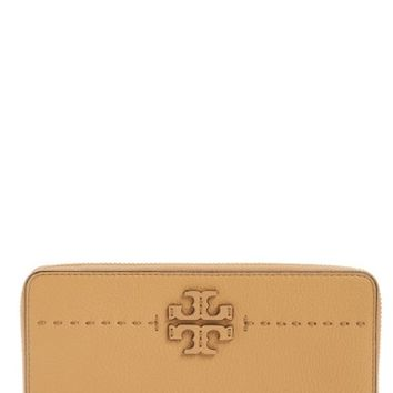 Tory Burch McGraw Leather Continental Zip Wallet | Nordstrom