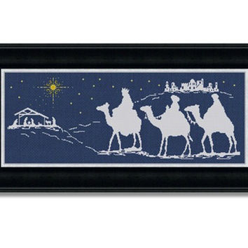 Nativity in Bethlehem - PDF Cross Stitch Pattern - INSTANT DOWNLOAD