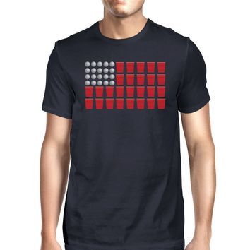 Beer Pong American Flag Funny 4th Of July T Shirt Ideas For Men