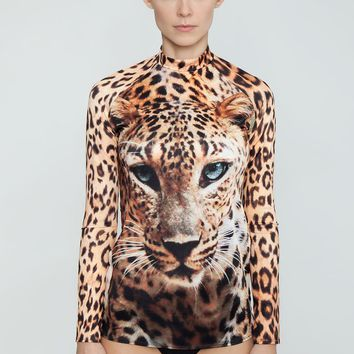 Long Sleeve Rhahshguard - Wild Eyes Animal Print