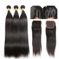 Indian Virgin Hair With Closure Straight Human